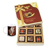 Chocholik Belgium Chocolates - 9pc Luscious Truffle Treat With Diwali Special Coffee Mug - Gifts For Diwali
