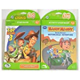 Leapfrog Leapreader/Tag Book Set: Toy Story 3: Together Again AND Handy Mannys Motorcycle Adventure
