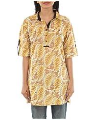 Rajrang Women's Wear Print Cotton Kurta Top Blouse Size M - B00AQGCHUE