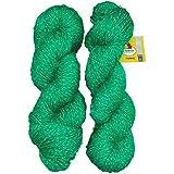 Vardhman Charming Acrylic And Nylon Knitting Green (200 Gm) Pack Of 2 (200 Gm)