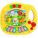 Piano Toys Toopoot Baby Kids Animal Farm Musical Educational Music Toy Yellow