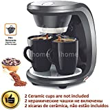 Generic 110V With CUP : High Quality 2 Cups Black Color Coffee Machine American Or Nescafe Drip Coffee Maker Machine Home Kitchen DIY Cafe Device