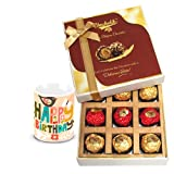 Joy Of Chocolates Gift Box With Birthday Mug - Chocholik Belgium Chocolates