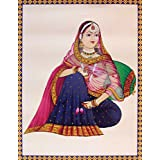 "Dolls Of India ""Courtesan"" Reprint On Paper - Unframed (45.72 X 34.29 Centimeters)"