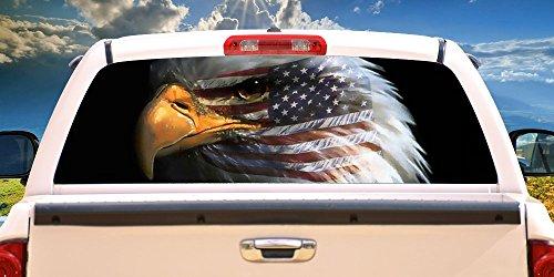 WARBIRD 22″ x 65″ Rear Window Graphic bald eagle truck view thru vinyl