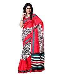 101cart Multi Color Art Silk Party Wear Saree - B00RHSAWZ6