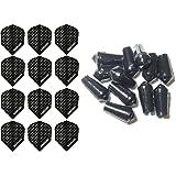 4 Sets Of Harrows Dimplex Standard Dart Flights Plus 4 Sets Of Black Nylon Dart Flight Protectors B