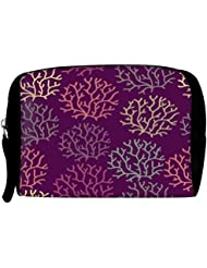 Snoogg Seamless Pattern With Leaf Seamless Texture Can Be Used For Wallpaper Travel Buddy Toiletry Bag / Bag Organizer...