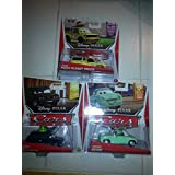 Disney Cars Lot Of 3 New Releases!! Todd (The Pizza Planet Truck), Denise Beam And Alexander Hugo With Party Hat!!