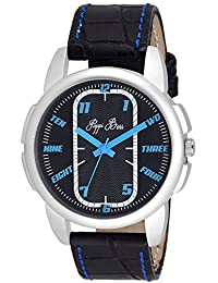 Pappi Boss Blue Stitching Leather Strap Wrist Watch For Boys, Men