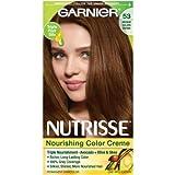 Garnier Nutrisse Nourishing Color Creme, 53 Medium Golden Brown, One Application