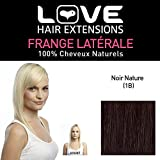 Love Hair Extensions Love Hair Extension Human Hairs Clip In Side Fringe, Colour 1B Natural Black