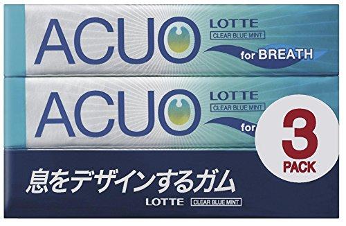 ロッテ ACUO <クリアブルーミント> 3パック×10個