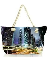 Snoogg Road Trips At Night Women Anchor Messenger Handbag Shoulder Bag Lady Tote Beach Bags Blue