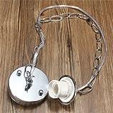 Generic 1M E27/E26 Ceiling Rose Chain Pendant Chandelier Light Lamp Bulb Holder Socket-brushed Nickel