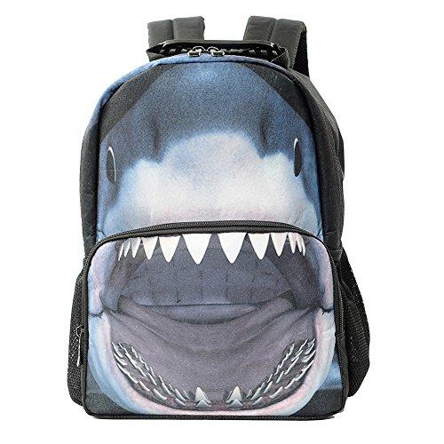 Lalawow 3D Animales Mochila Tiburón con 1680D Multiple función Mochila Alta Calidad para chicos y chicas mochila escolar (Tiburón)