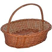 International Cane Furniture Oval Cane Basket (40 Cm X 28 Cm X 11 Cm, Brown)