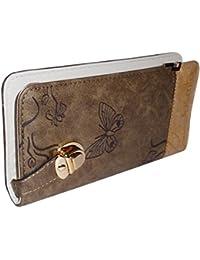 Sn Louis Fabric Brown Women Wallet SAMCO-724