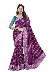De Marca Purple Dupion Silk Designer Jai2043 Saree