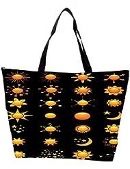 Snoogg Sun Vectors Waterproof Bag Made Of High Strength Nylon