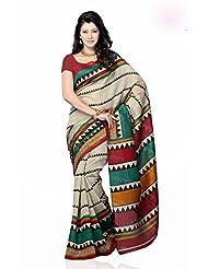 Shariyar Multi Color Art Silk Printed Saree PRG353