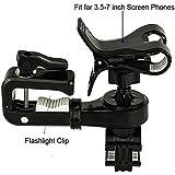 Net_Cafe Bicycle Phone Flashlight Folder - Multifunctional Two In One 360 Rotation Bike Cell Phone Bracket Flashlight...