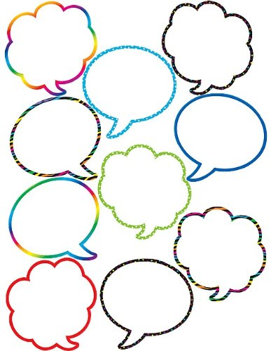 Speech Bubbles Cut-Outs