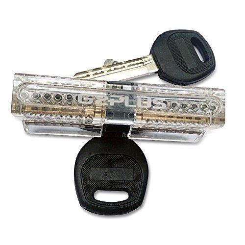 G2PLUS Zylinderschloss Transparents Übungsschloss Schloss Schlössern Vorhängeschlösser Übungszylinder mit 2 Stabilen Schlüsseln für Schlosser Anfänger - 2