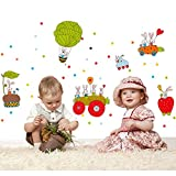 Bright And Colorful Cartoons Kids Room Wall Sticker