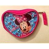 Minnie Mouse Pink Sparkle Coin Change Purse For Girls Kids Money Storage Holder