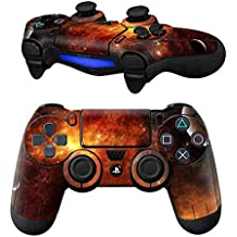 Elton PS4 Controller Designer 3M Skin For Sony PlayStation 4 DualShock Wireless Controllers (set Of Two Controllers Skin) - Red Exploding Star Planet