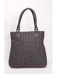 Risa Intricate Woven Tote Bag (Grey)