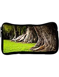 Snoogg Huge Tress Poly Canvas Student Pen Pencil Case Coin Purse Utility Pouch Cosmetic Makeup Bag