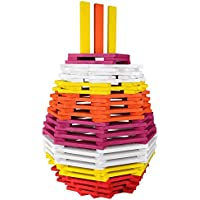 Click N Play 100% Real Wooden Blocks Set, Building Blocks And Stacking Blocks, Colored Building And Stacking Toy...