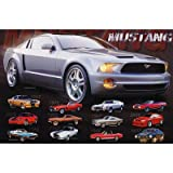 Mustang Evolution Collage Poster History Car Rare 24×36