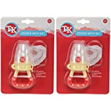T&K Feeder With Net- Pack Of 2 (Cream And Red)