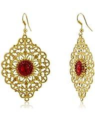 FoxySperks Brass Drops And Danglers Earring For Women (Golden) (LM161)