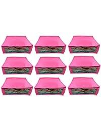 Abhinidi Non-Woven Multipurpose Large 10inc Sareee Cover 9PC Capacity 10-15 Units Saree Each - B01E7RF2ZO