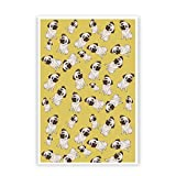 PosterGuy Pug Life Pattern Graphic Illustration Poster (A4)