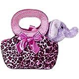 Aurora World Fancy Pals Plush Toy Pet Carrier, Elephant Jungle Pop