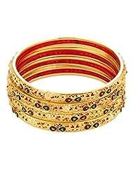 Voylla Yellow Gold Toned Stunning Bangle Bracelet