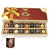 Chocholik Belgium Chocolates - 16pc Designer Box Of Truffles With Diwali Special Coffee Mug - Diwali Gifts