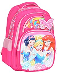 GOURibags Polyester 20 Liters 3 Princess Barbie Pink School Bag Bag For Kids /Tuition Bag For Girls/Classess Bag...