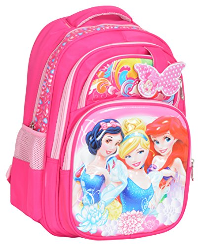 6caad748d5 GOURibags Polyester 20 Liters 3 Princess Barbie Pink School Bag Bag For Kids   Tuition Bag