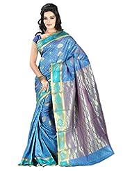 Roopkala Silks & Sarees Silk Saree With Blouse Piece (Tl-1201 _Blue)