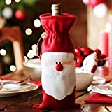 Generic 2016 Red Wine Bottle Cover Bags Christmas Dinner Table Decoration Home Party Decors Santa Claus Christmas...