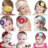 FEITONG(TM) Lovely Baby Girls Headbands Rhinestone Flower Headbands For Girls Infant Hair Band