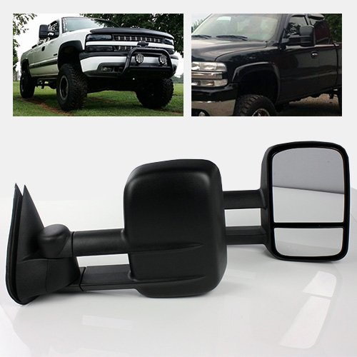 ModifyStreet® Manual Flip-up Extendable Side Towing Mirrors for 1999-2006 Chevy Silverado/GMC Sierra