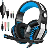 GM-2 : GM-2 Gaming Headset For PS4 Xbox One PC Laptop Smartphone Tablet Cell Phone, AFUNTA Stereo LED Headphone...