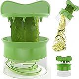 Beelfast Spiralschneider Hand für Gemüsespaghetti kartoffel, Zucchini Spargelschäler, Gurkenschneider, Gurkenschäler , Möhrenreibe Möhrenschäler, Gemüsehobel -
